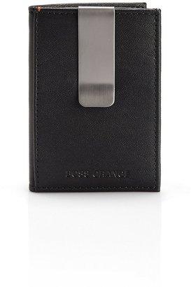 HUGO BOSS 'Cospel' | Faux Leather Money Clip by BOSS Orange