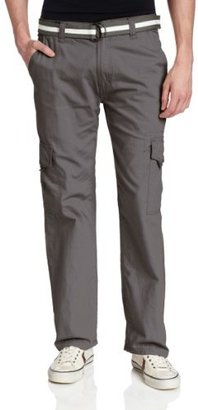 Southpole Men's Belted Ripstop Cargo Long Pant With Washing