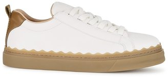 Chloé Lauren White Leather Sneakers