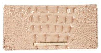 Women's Brahmin 'Ady' Croc Embossed Continental Wallet - Orange $95 thestylecure.com