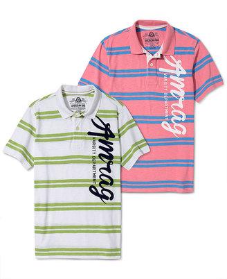 American Rag Shirt, Varsity Side Stripe Polo