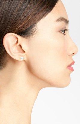 BaubleBar Pyramid Crystal Stud Earrings