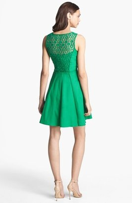 Jessica Simpson Lace Back Fit & Flare Dress