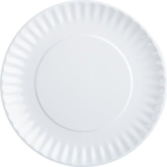 Crate & Barrel Picnic White Salad Plate