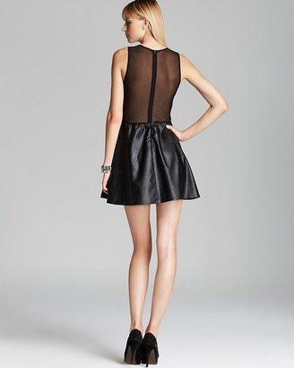 Lulu For Love & Lemons Dress Faux Leather