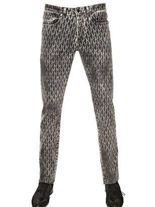 Karl Lagerfeld 18cm Slim Bleach-Printed Stretch Jeans
