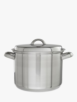 John Lewis & Partners Classic Stainless Steel Stockpot, 6.5L, 24cm