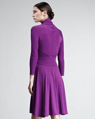 Ralph Rucci Plunge-Neck Jersey Dress