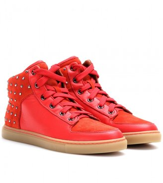 Mulberry Studded leather high-top sneakers