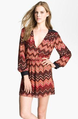 Parker Embellished Faux Wrap Dress