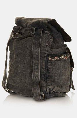 Topshop Tapestry Trim Backpack