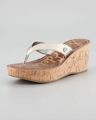 Sam Edelman Romy Wedge Sandal, Light Gold