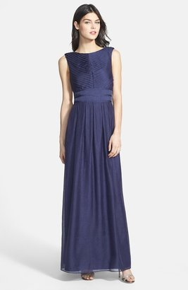 Ivy & Blu Pleat Crinkled Chiffon Dress