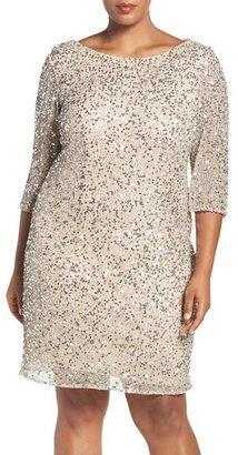 Plus Size Women's Pisarro Nights Draped Back Beaded Dress $198 thestylecure.com