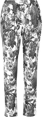 Stella McCartney Christine floral-print silk tapered pants