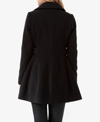 Forever 21 Contemporary Pleated Button Tab Coat