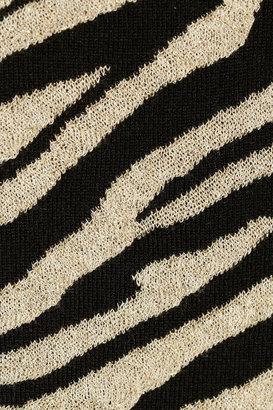 Diane von Furstenberg Estelle zebra-print knitted sweater