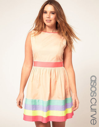 Asos Exclusive Dress With Ribbon Trim