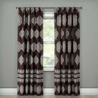 Mudhut Isara Drape Curtain Panel Brown - Mudhut