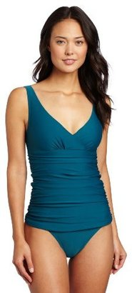 Shoshanna Women's Solid Ruched One Piece
