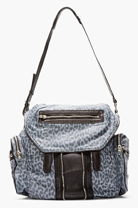 Alexander Wang Blue Leopard Print Leather Marti Backpack