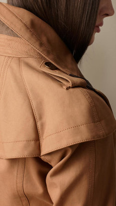 Burberry Cropped Cotton Trench Jacket