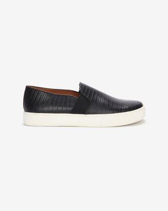 Vince Exclusive Lizard Embossed Slip On Sneaker: Black
