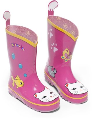 Kidorable Girl's Lucky Cat Rain Boot Little Kid