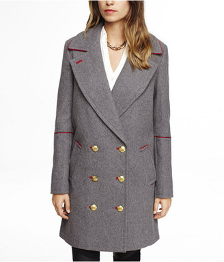 Express Piped Drop Double Breasted Coat
