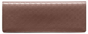 Gucci Broadway Microguccissima Patent Leather Evening Clutch, Mauve