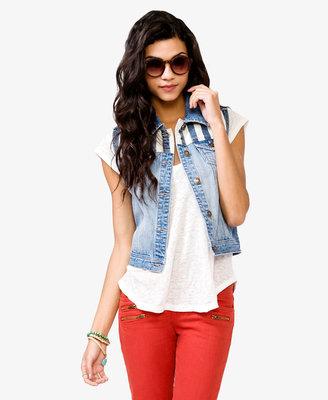 Forever 21 Blue Jeans Babe Denim Vest