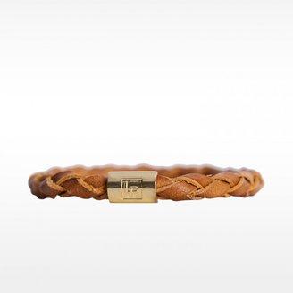 Linea Pelle Braided Leather Bangle