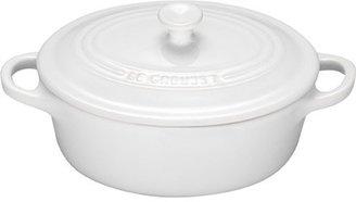 Le Creuset White Petite Covered Oval Casserole