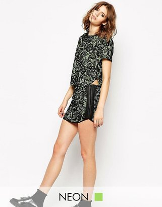 Endless Rose Neon Lace Cutwork Skirt