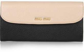 Miu Miu Two-tone leather continental wallet
