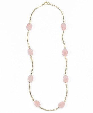 Brooks Brothers Rose Quartz Box Chain Illusion Necklace
