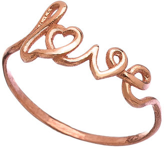 Max & Chloe Signature Rose Gold Scripted Love Ring