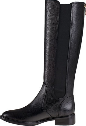 Tory Burch Christy Riding Boot Black Leather
