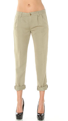 Obey The Southampton Draped Pant in Dusty Army