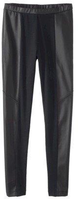 labworks Women's Legging w/Faux Leather - Black