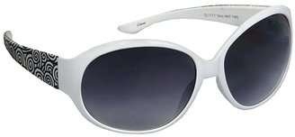 Studio 35 Trend Plastic Sunglasses Deco White and Black