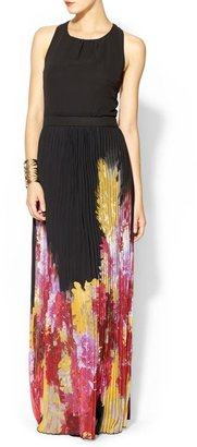 Juicy Couture Sabine Pleated Floral Maxi Dress
