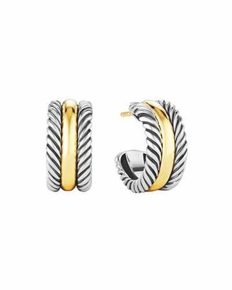 David Yurman Cable Classics Hoop Earrings with Gold