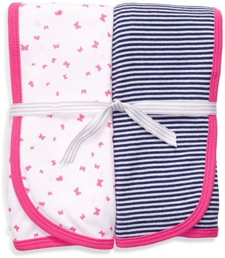 Carter's Pink & Navy 2-Pack Swaddle Blankets