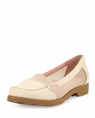 Taryn Rose Jac Mesh and Leather Loafer, Sand $229 thestylecure.com