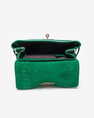 Mulberry Mini Alexa Micrograin Calf Satchel: Emerald Green