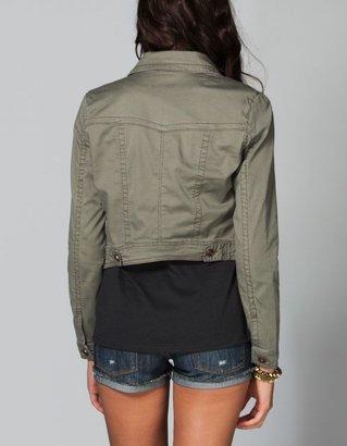 Tinseltown Womens Hi Low Twill Jacket