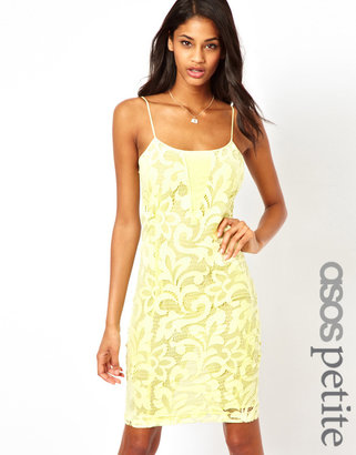 Asos Exclusive Lace Dress with Sheer Insert