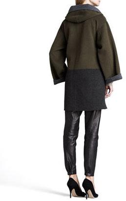 Vince Colorblock Felt Coat