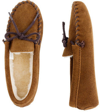 Minnetonka Kids' lined moccasin slippers